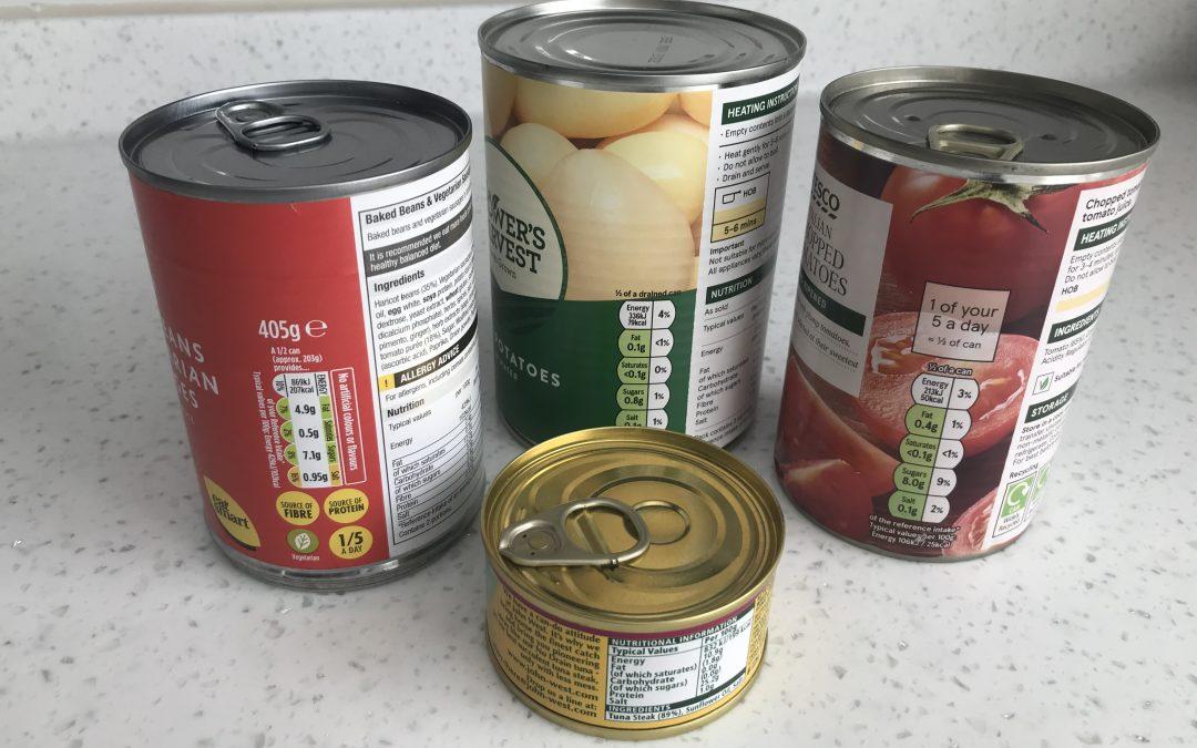 Using Tinned Food